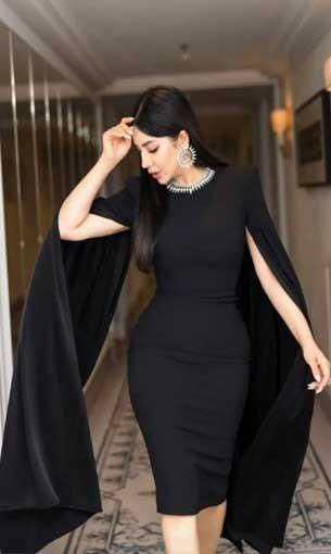 عمان اليوم - لجين عمران تتألق بفستان أنيق وإطلالة فخمة